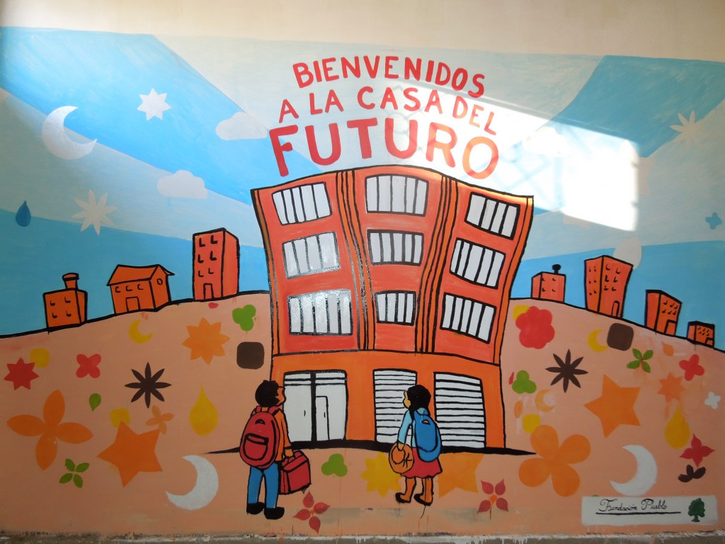 Wall painting at our House of the Future in El Alto