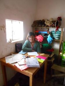 """""""Gracias al hospedaje puedo seguir estudiando."""" Becada Virginia Calani Cira, de la comunidad de Machaya Cala, asiste al Núcleo Educativo de Uyuni."""